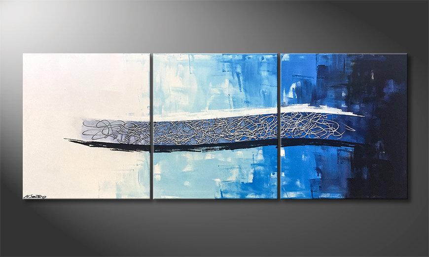 Onze schilderij Ice Stream 180x70x2cm