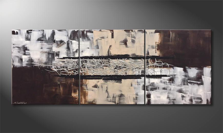 Onze schilderij Silver Connection 180x70x2cm