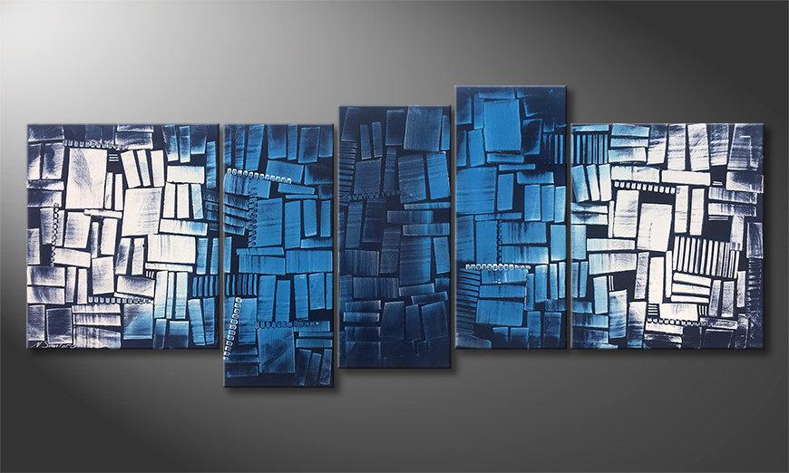 Onze schilderij Splited Water 190x80x2cm