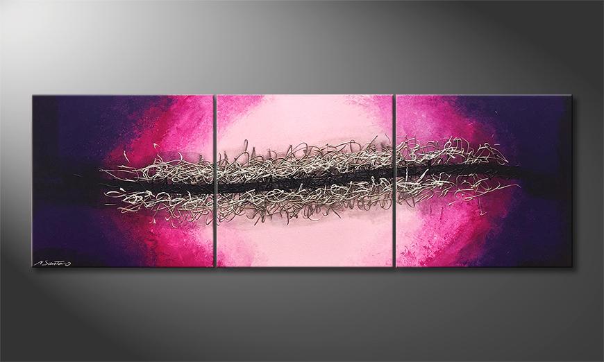 Onze schilderij Splitted Universe 210x70x2cm
