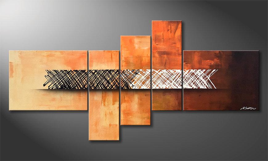 Onze schilderij Structure Of Contrast 160x80x2cm