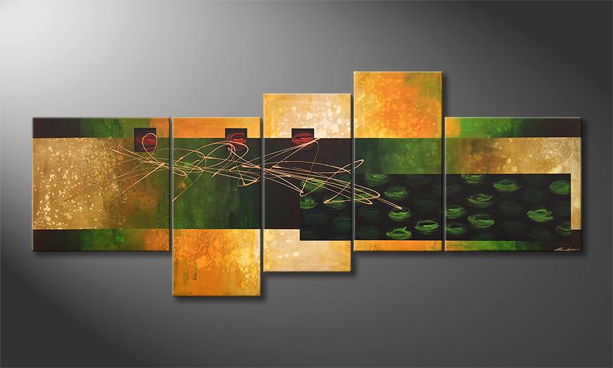Onze schilderij Summer Rain 240x100x2cm