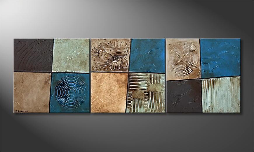 Onze schilderij Waterside Signs 210x70x2cm