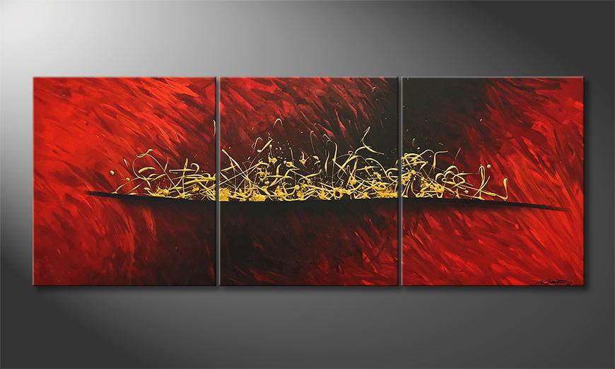Woonkamer schilderij Brewed Gold 180x70x2cm
