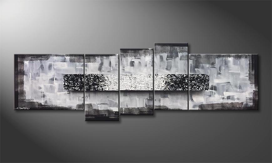 Woonkamer schilderij Caught Contrast 210x70x2cm