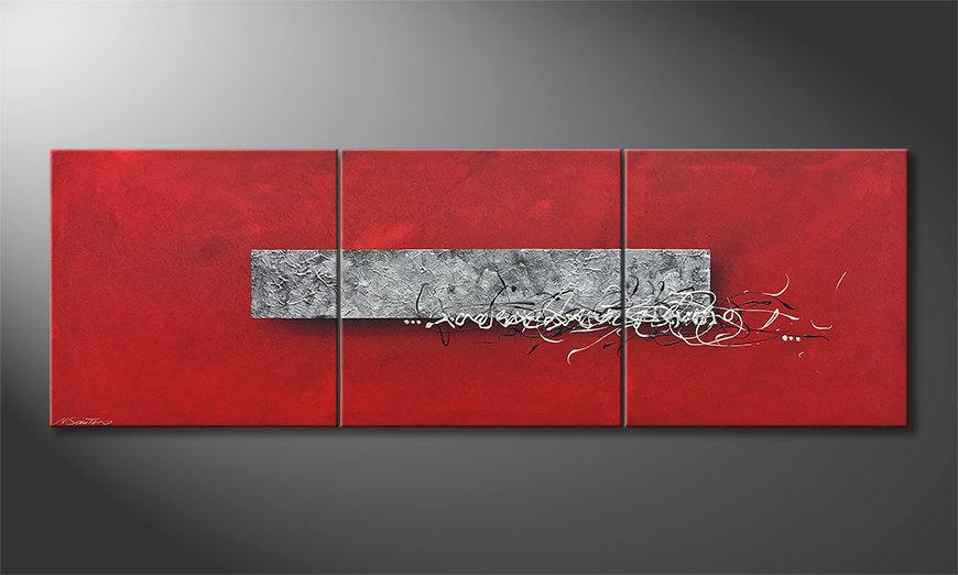 Woonkamer schilderij Clear Emotions 180x60x2cm