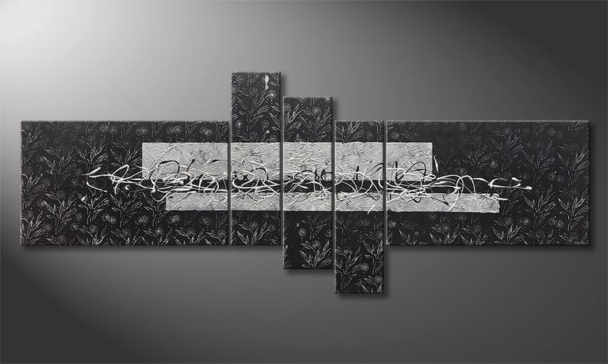 Woonkamer schilderij Cold Night 220x90x2cm