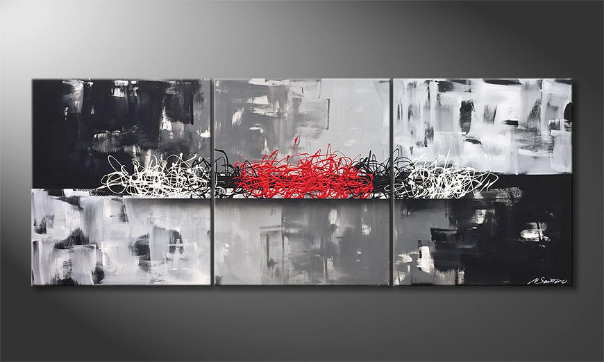 Woonkamer schilderij Cold Red 180x70x2cm