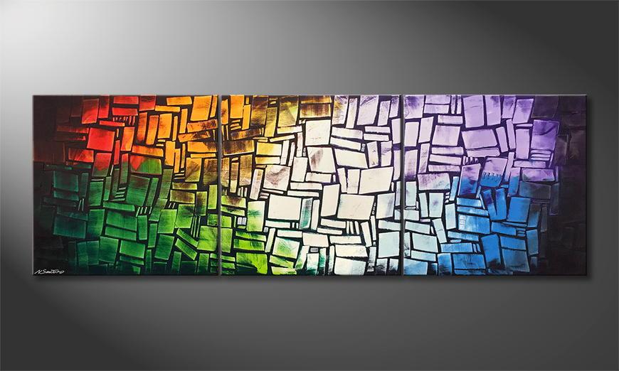 Woonkamer schilderij Colors Of Moon 210x70x2cm