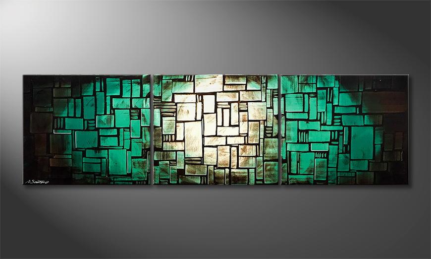 Woonkamer schilderij Cubic Pacific 210x60x2cm