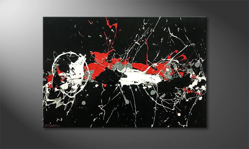 Woonkamer schilderij Deep Eruption 120x80x2cm