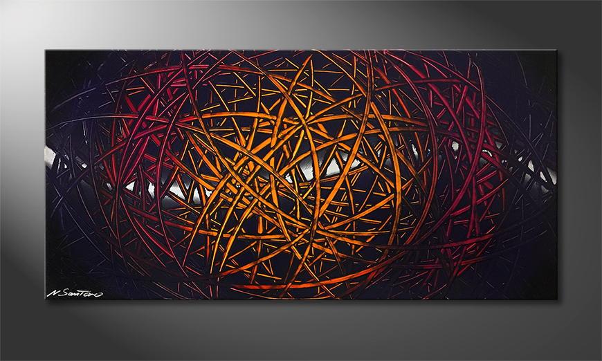 Woonkamer schilderij Deep Sundown 120x60x2cm