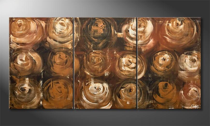Woonkamer schilderij Desert Roses 165x80x2cm