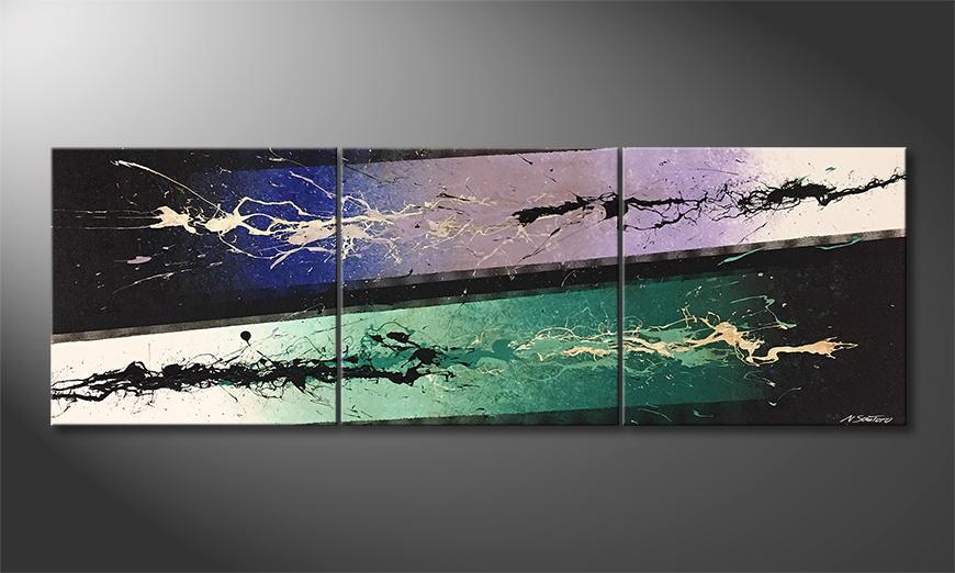 Woonkamer schilderij Different Emotions 210x70x2cm
