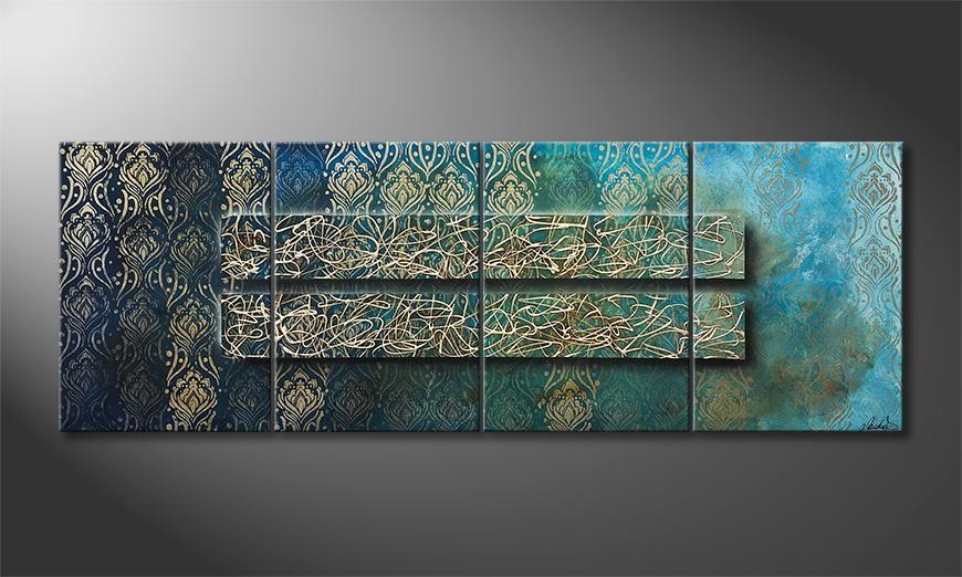 Woonkamer schilderij Disorderly Order 200x70x2cm