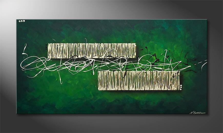 Woonkamer schilderij Duality 140x70x2cm