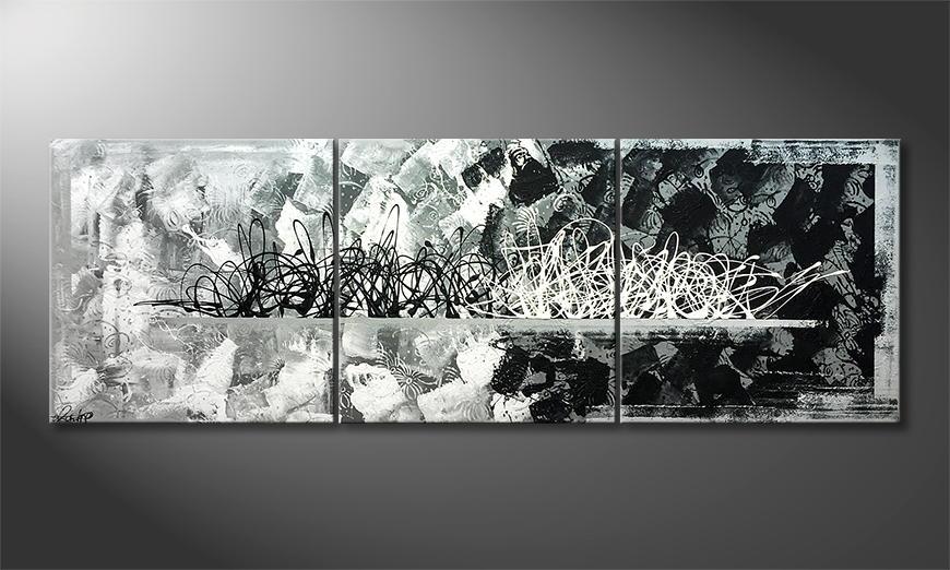 Woonkamer schilderij Feeling United 180x60x2cm