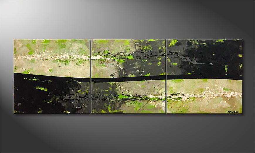 Woonkamer schilderij Fresh Eruption 210x70x2cm