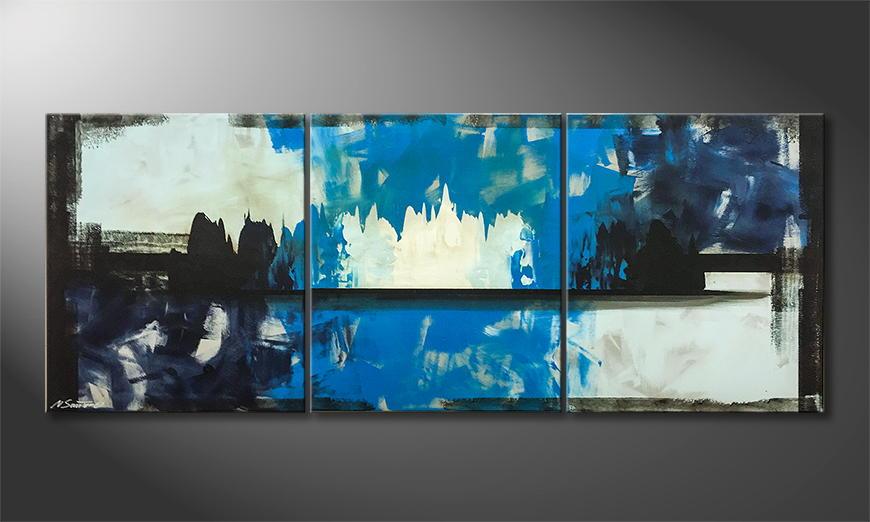 Woonkamer schilderij Frozen Fire 180x70x2cm
