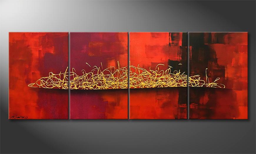 Woonkamer schilderij Glowing Harmony 160x60x2cm