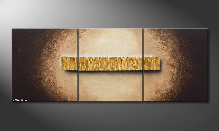 Woonkamer schilderij Golden Fall 180x70x2cm
