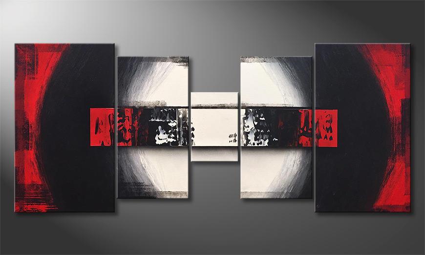 Woonkamer schilderij Heat Of Battle 160x70x2cm