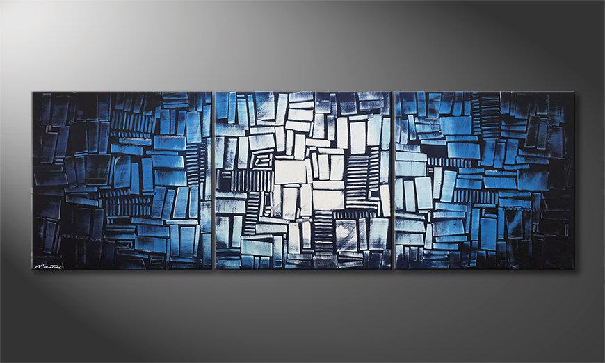 Woonkamer schilderij Ice Cubes 210x70x2cm