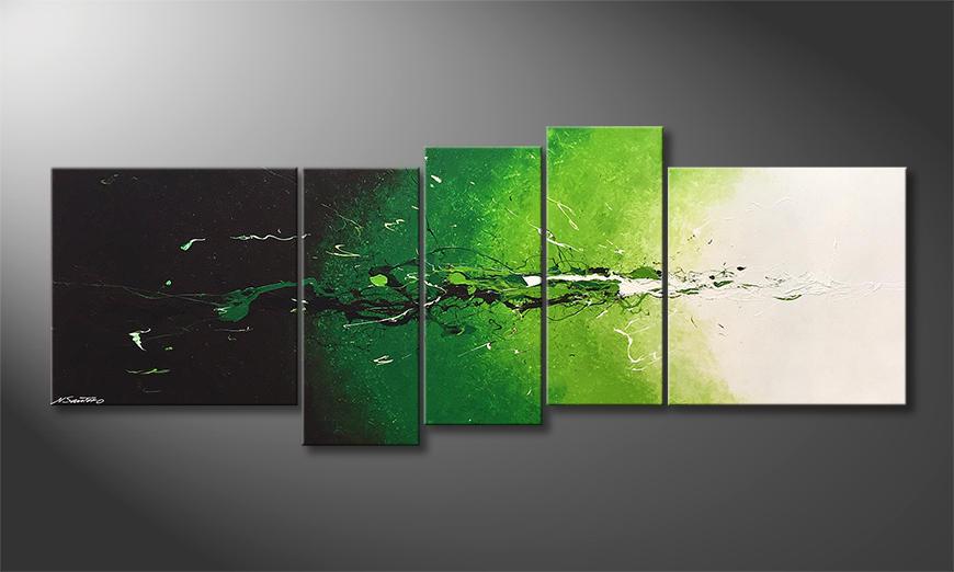 Woonkamer schilderij Into The Green 210x80x2cm