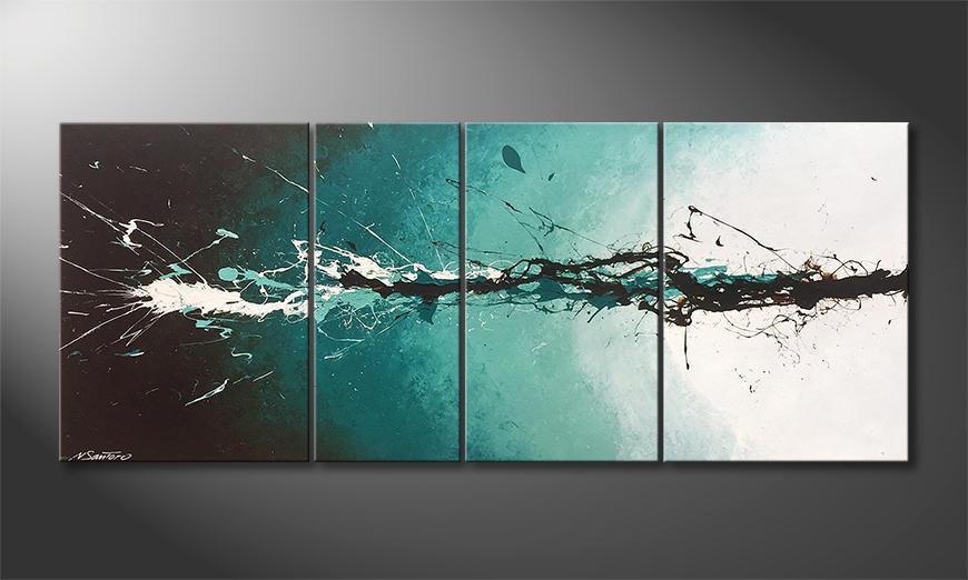 Woonkamer schilderij Into The Water 170x70x2cm