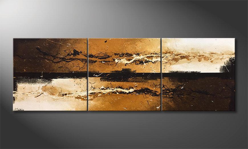 Woonkamer schilderij Liquid Earth 210x70x2cm