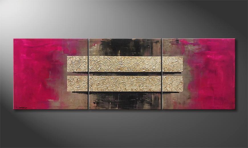 Woonkamer schilderij Live 210x70x2cm