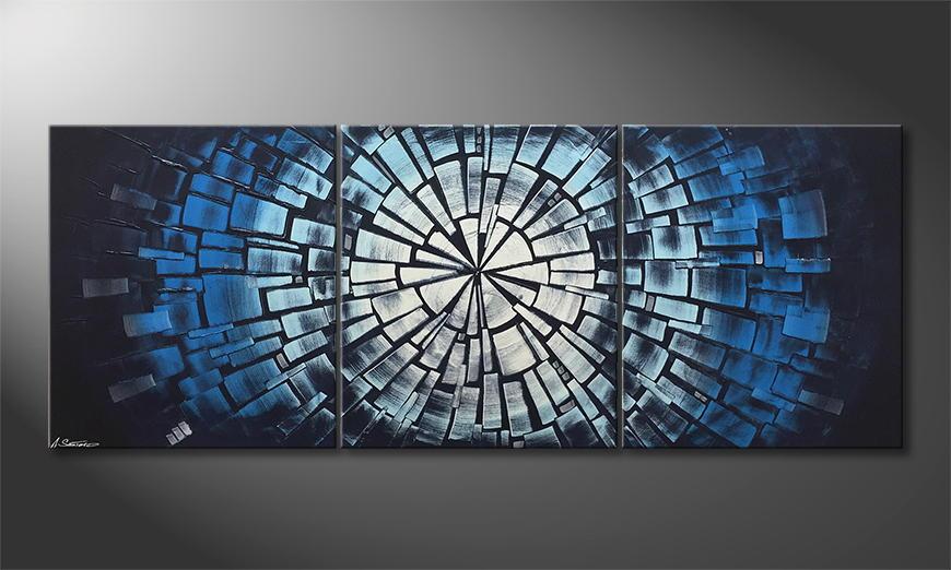 Woonkamer schilderij Maelstrom 180x70x2cm
