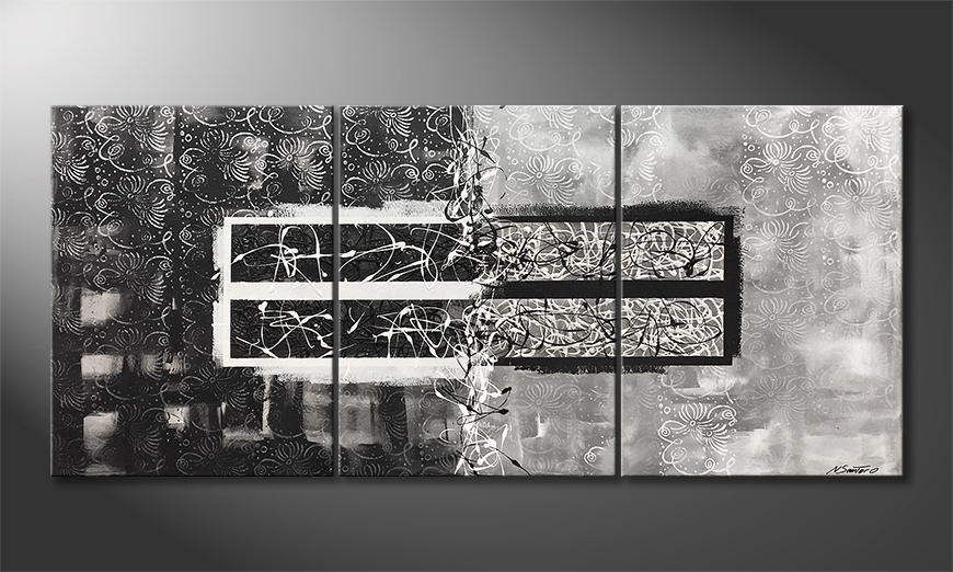 Woonkamer schilderij Mirroring 180x80x2cm