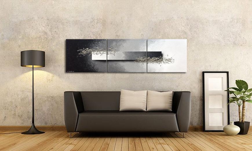 Woonkamer schilderij Opinions 180x50cm - Schilderij XXL