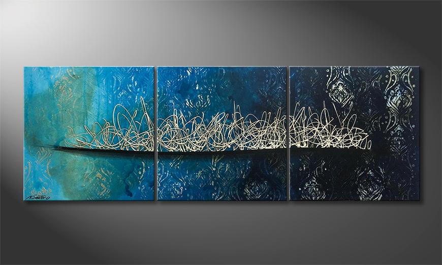 Woonkamer schilderij Pacific Secret 180x60x2cm