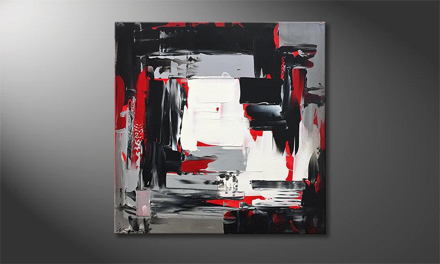 Woonkamer schilderij Red Flames 80x80x2cm