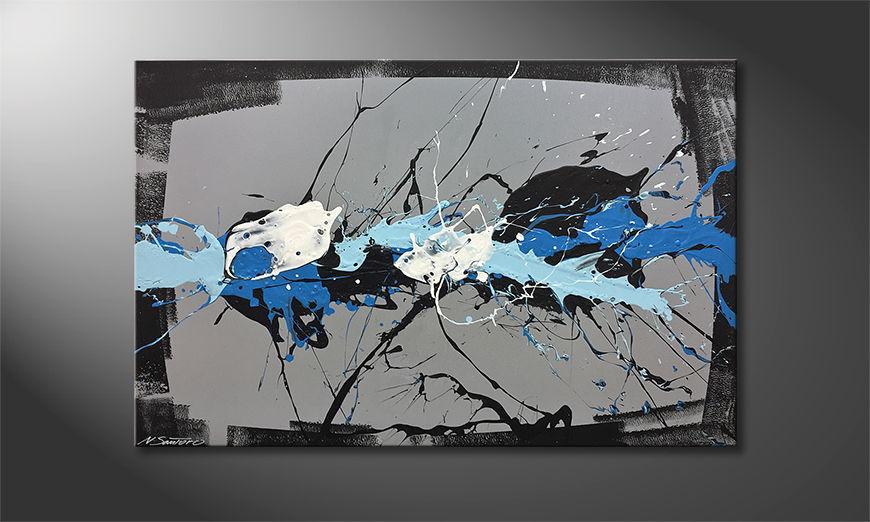 Woonkamer schilderij Refection 120x80x2cm
