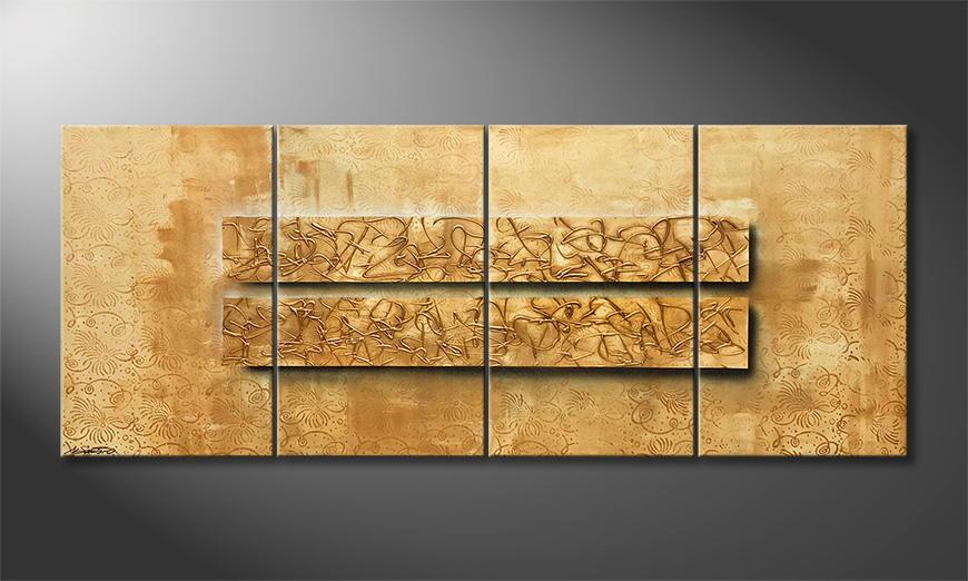 Woonkamer schilderij Shell Of Hope 200x80x2cm