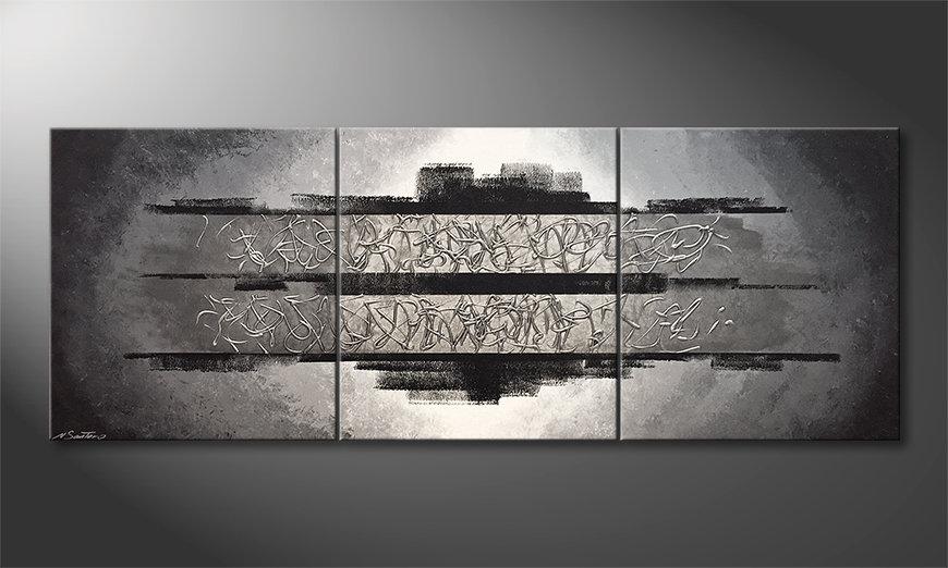 Woonkamer schilderij Silver Vision 210x80x2cm