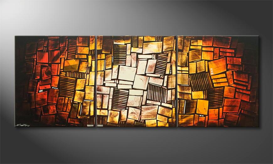 Woonkamer schilderij Sunny Mood 210x80x2cm