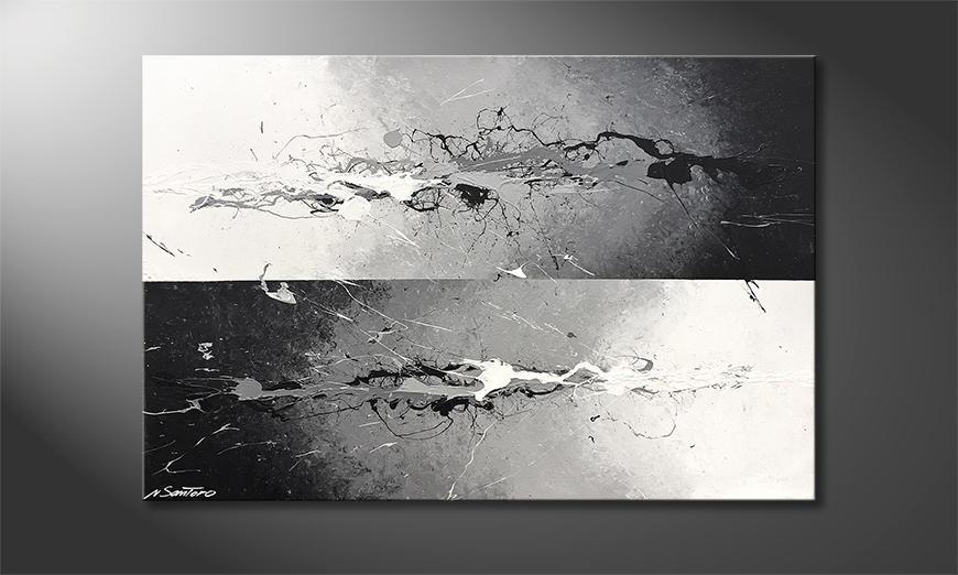Woonkamer schilderij The Change 120x80x2cm
