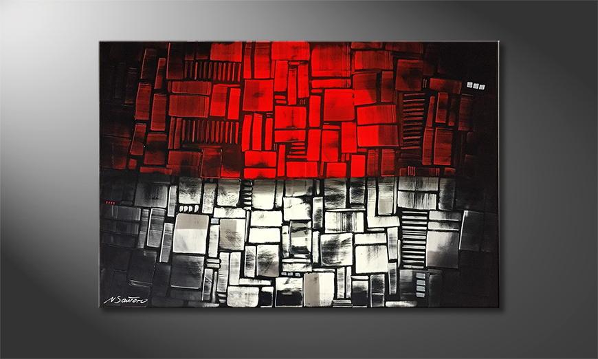 Woonkamer schilderij Two Parts 120x80x2cm