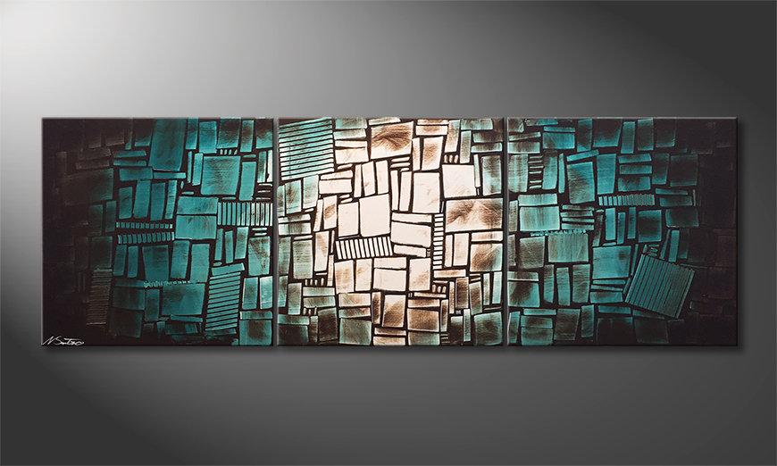 Woonkamer schilderij Water Shine 210x70cm - Schilderij XXL