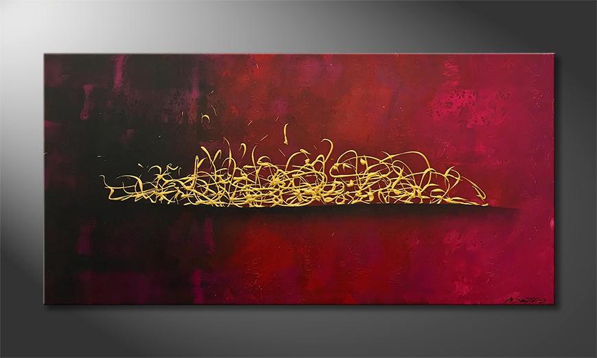 Woonkamer schilderij Wild Gold 140x70x2cm